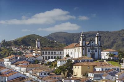View of Nossa Senhora do Carmo Church and Museu da Inconfidencia, Ouro Preto, UNESCO Site, Brazil