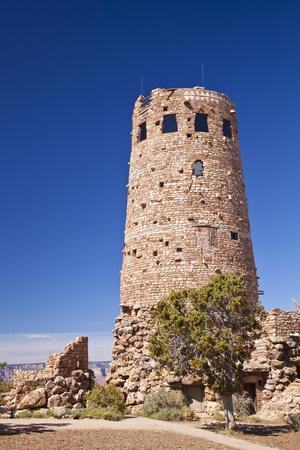 Desert View Watchtower, South Rim, Grand Canyon Nat'l Park, UNESCO Site, Arizona, USA