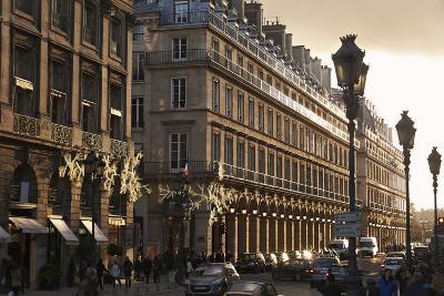 Sunset on Rue de la Paix, Paris, France, Europe