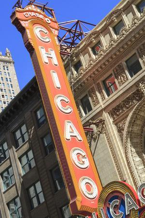 The Chicago Theater Sign Has Become an Iconic Symbol of the City, Chicago, Illinois, USA