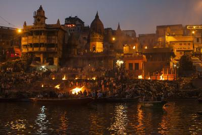 A Cremation on the Banks of the Ganges River