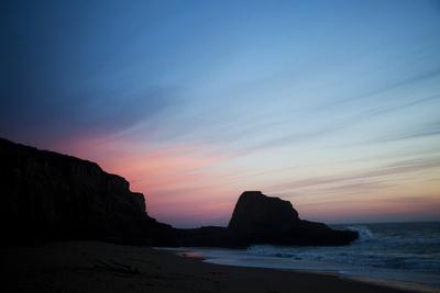 The Sun Sets over Panther Beach in Central California