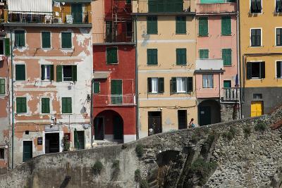 Buildings in Riomaggiore, One of Five Towns in the Cinque Terre