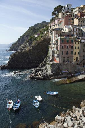 The Waterfront in Riomaggiore, One of Five Towns in the Cinque Terre