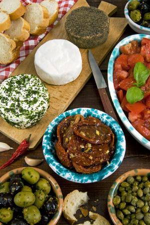 Maltese Appetizer Gbejniet, Capers, Tomatoes, Olives, Maltese Cuisine, Malta