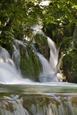 The Waterfalls of the V. Cascade, Plitvice Lakes, Plitvicka Jezera, Croatia