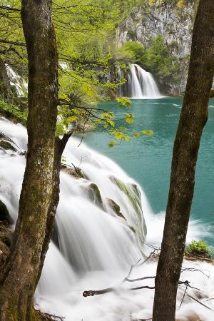 Waterfall Milanovacki Slapovi, Plitvice Lakes, Plitvicka Jezera, Croatia