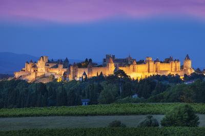 La Cite Carcassonne, Fortified Medieval Town, Languedoc-Roussillon, France