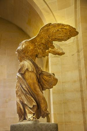 Statue of Winged Victory 'Victoire De Samothrace', Musee Du Louvre, Paris, France