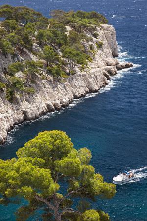 Tour Boat, Calanques Near Cassis, Bouches-Du-Rhone, Cote d'Azur, Provence, France