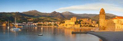 Dawn over Town of Collioure, Pyrenees-Orientales, Languedoc-Roussillon, France