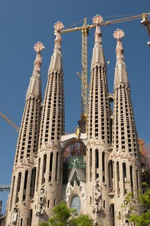 La Sagrada Familia by Antoni Gaudi, Barcelona, Spain