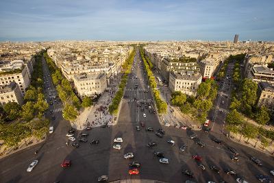 View over Paris from the Top of Arc De Triomphe, Paris, France