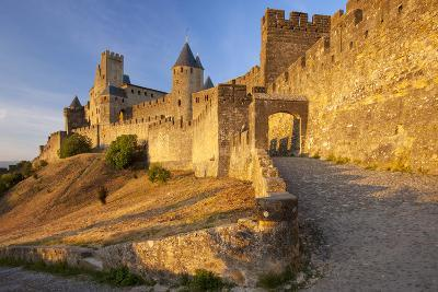 Medieval Town, Fortification, Carcassonne, Languedoc-Roussillon, France