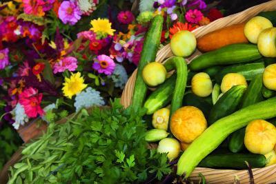 Fresh Organic Vegetables at a Farmers' Market, Savannah, Georgia, USA
