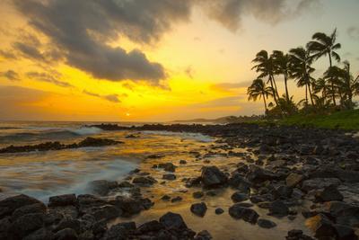 Sunset, Poipu, Kauai, Hawaii, USA