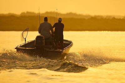 Fishermen Boating Toward the Laguna Madre, Texas, USA