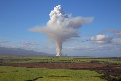 Cane Fire, Sugar Cane Agriculture, Maui, Hawaii, USA