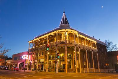 The Weatherford Hotel at Dusk in Historic Downtown Flagstaff, Arizona, USA