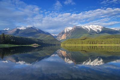 Mission Reservoir, Peaks of the Mission Mountains Near St Ignatius, Montana, USA