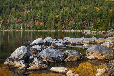 Jordan Pond in Evening Light in Autumn, Acadia National Park, Maine, USA