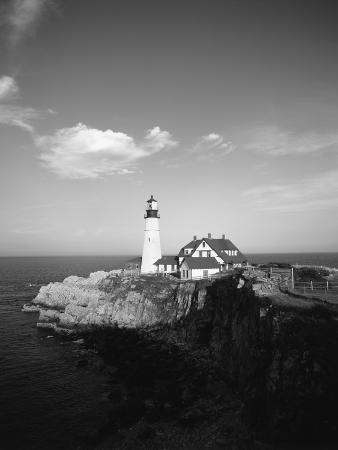 View of Lighthouse, Cape Elizabeth, Portland, Maine, USA