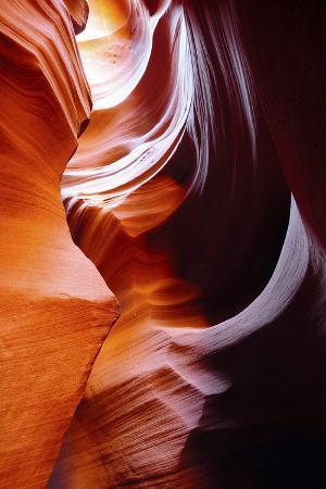Light Reflections and Swirls in Secret Canyon, Page, Arizona, USA