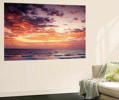 View of Sunrise over Atlantic Ocean, Florida, USA