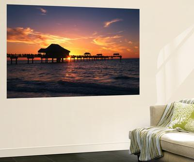 Clearwater Beach and Pier at Sunset, Florida, USA
