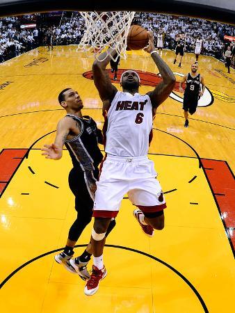 Miami, FL - JUNE 9 LeBron James and Danny Green