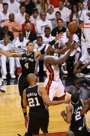 Miami, FL - JUNE 6 LeBron James and Danny Green