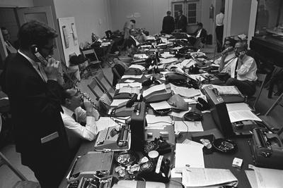 White House Press Room During President Lyndon Johnson's Gall Bladder Surgery, 1965