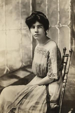 Alice Paul, American Suffragette and Author of an Equal Rights Amendment, 1910s