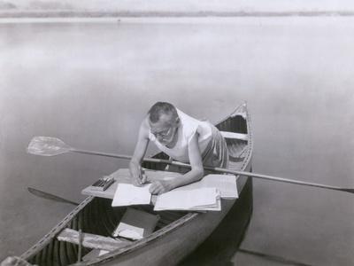 Charles Steinmetz German-American Mathematician Worked in His Canoe, Ca. 1900