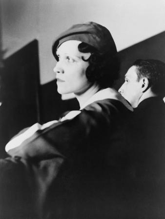 Lottie Coll, Wife of Gangster Murderer 'Mad Dog' Coll During His Trial, Dec. 1931