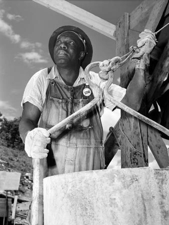 African American Worker at the TVA's Douglas Dam, June 1942