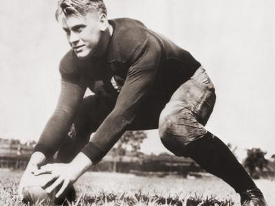Future President Gerald Ford at Football Practice at University of Michigan, Ca. 1933