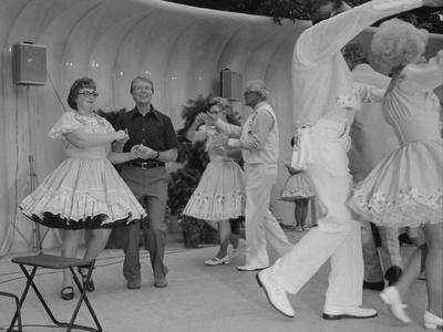 Jimmy Carter Square Dances During a Congressional Picnic on the South Lawn, 1970s