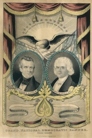 Democratic Ticket in Presidential Election of 1844, James Polk and George Dallas