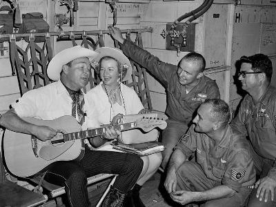 Roy Rogers and Dale Evans Entertain Troops in Vietnam on a USO Tour. Nov. 11, 1966