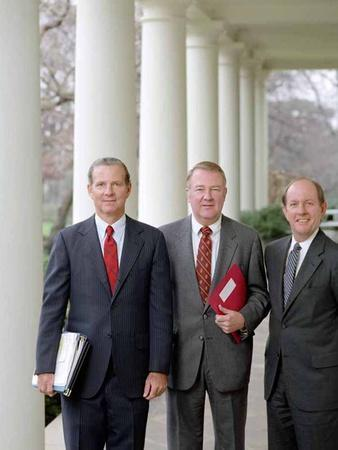Ronald Reagan's ' Troika': L to R: James Baker, Ed Meese, and Michael Deaver, 1981