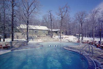 Maryland Presidential Retreat, Camp David Lodge and Swimming Pool in the Winter, Ca, 1969-74