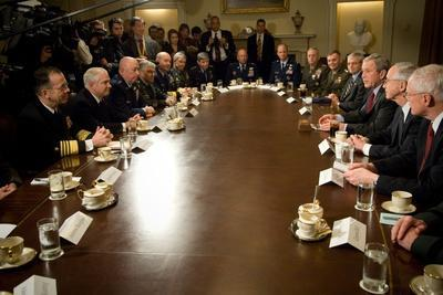 VP Cheney, Pres. Bush and Sec. Gates Meet with the Joint Chiefs of Staff, 2008