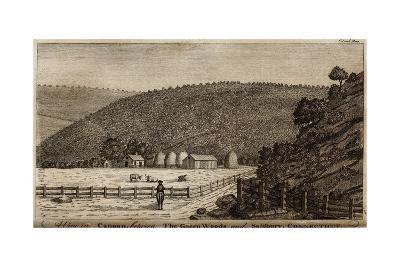 Connecticut Country Side at Canaan Between the Green Woods and Salisbury, 1787