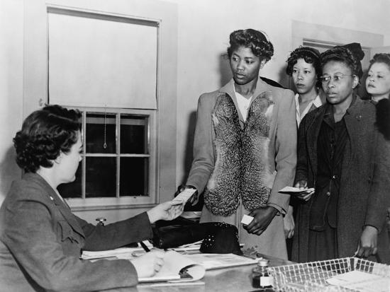 African American Women Registering for Basic Training, Women's Army Corp,  1940s