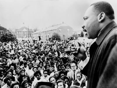 Martin Luther King Addresses Selma Demonstrators after Bloody Sunday, 1965