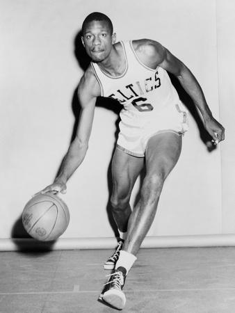 Bill russell coloring pages ~ Bill Russell in His Boston Celtics Uniform in 1958 Photo ...