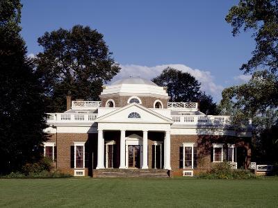 Monticello, Thomas Jefferson's Plantation Home, West Front, Ca. 1995