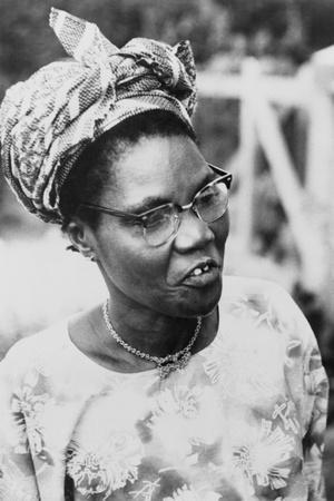 Funmilayo Ransome-Kuti, a Nigerian Political and Women's Rights Activist, Ca. 1960