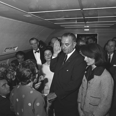 Lyndon Johnson Takes the Oath of Office after Kennedy's Assassination, Nov. 22,1963